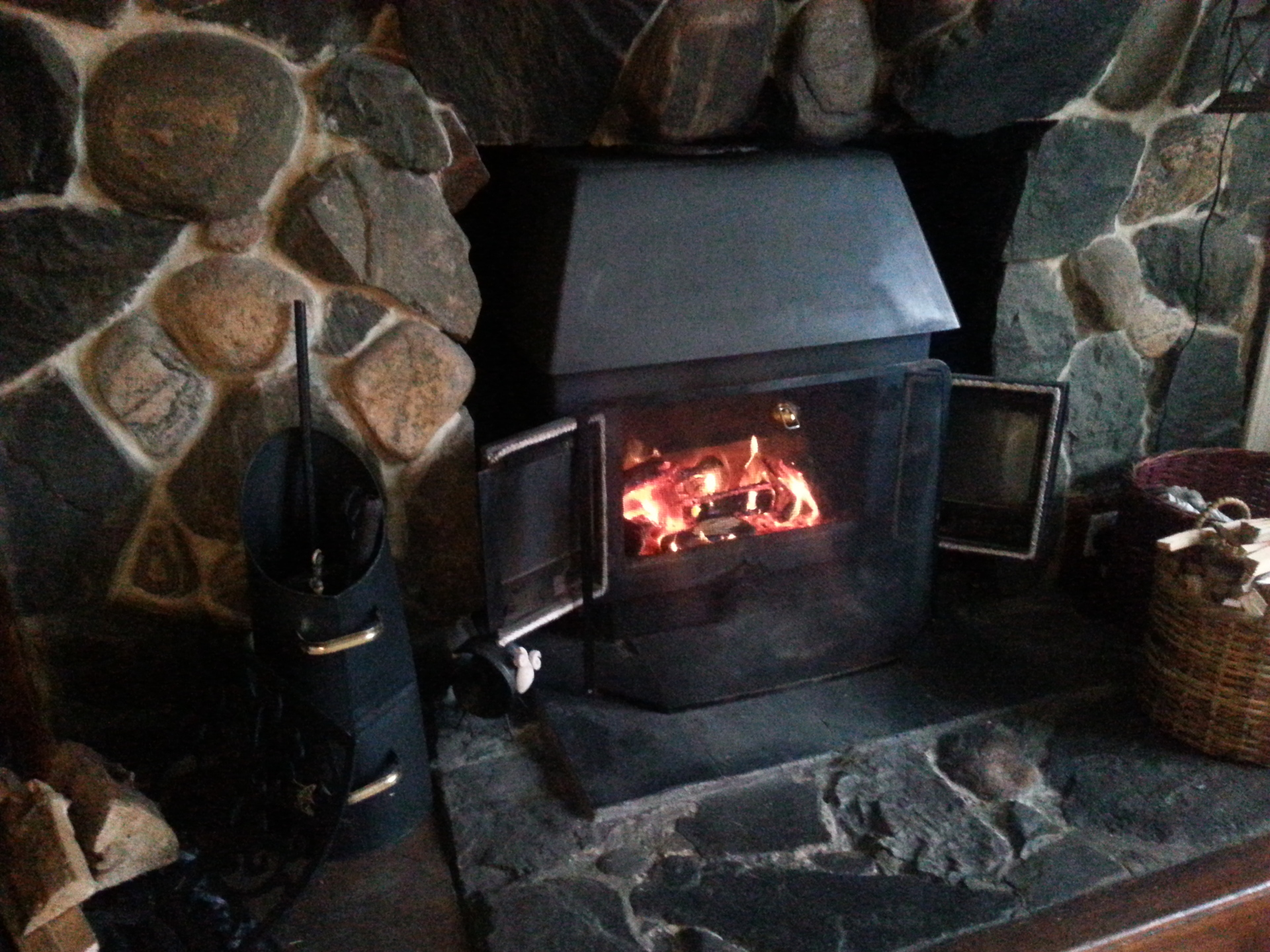 Get warm and snug in front of the fire.